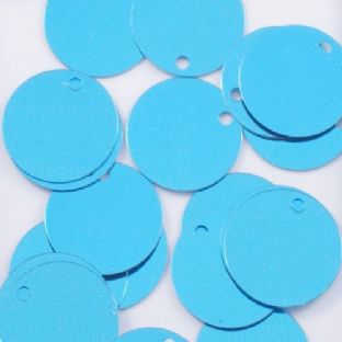 Large 30mm Metallic Turquoise Disc Sequins x 100